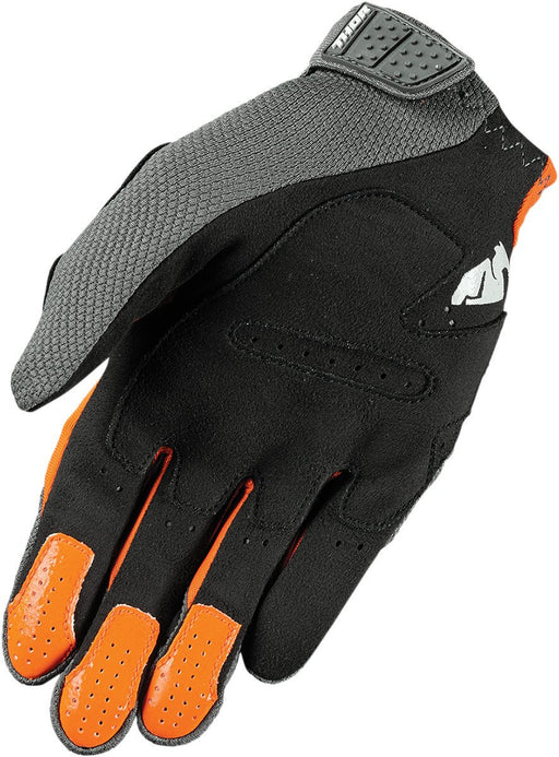 Thor Rebound Motocross Glove in Charcoal/Orange