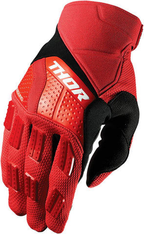 Thor Rebound Motocross Glove in Red