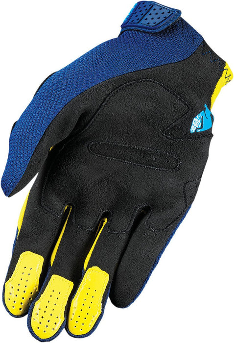 Thor Rebound Motocross Glove in Navy/Yellow