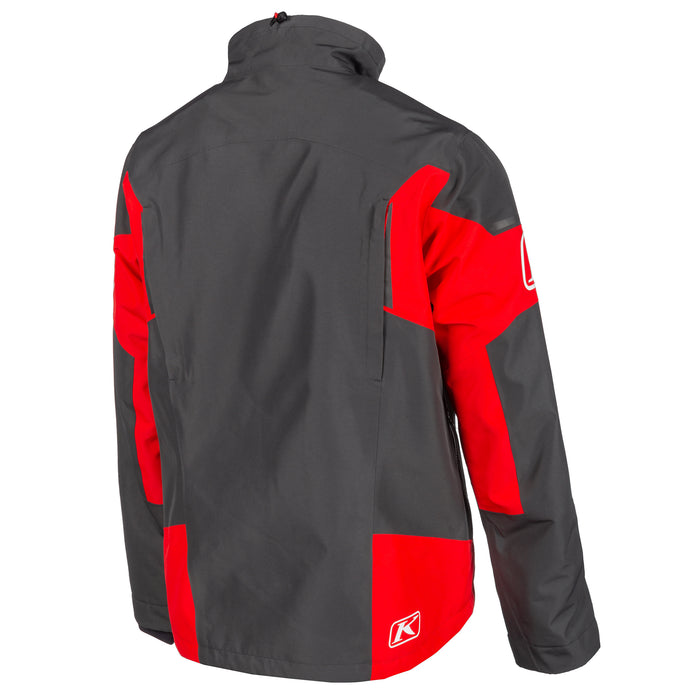 Klim Tomahawk Jacket in Asphalt - High Risk Red