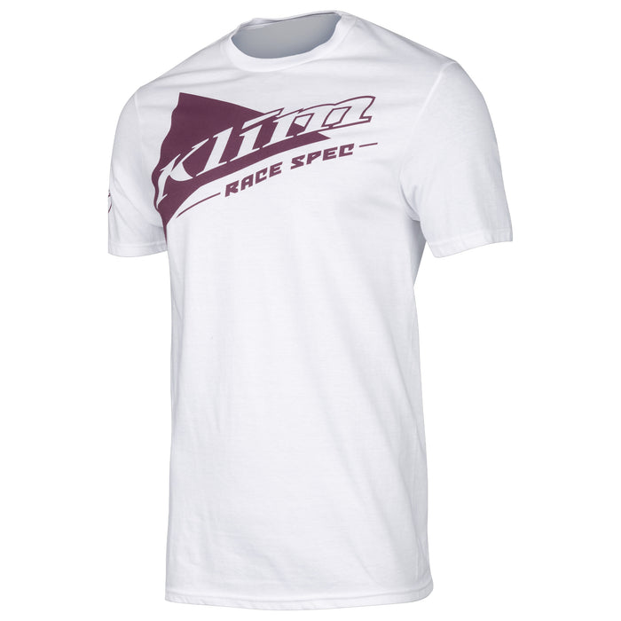 Race Spec Short Sleeve Tee in White - Deep Purple