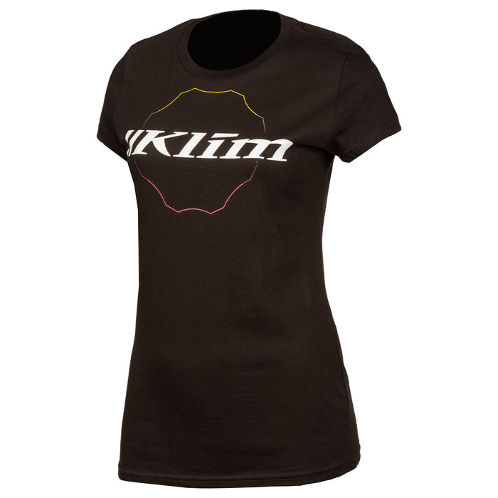 Klim Excel Short Sleeve Tee in Black - White