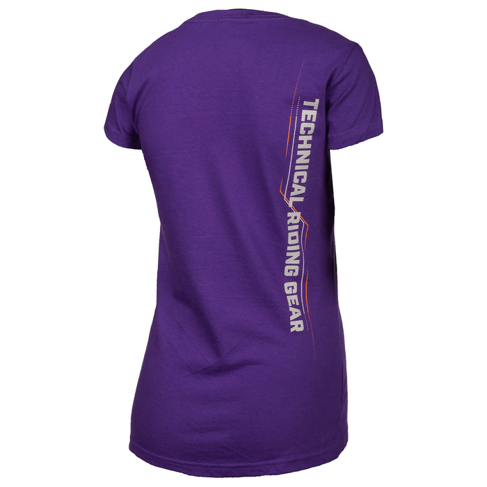 Klim Excel Short Sleeve Tee in Purple - Gray