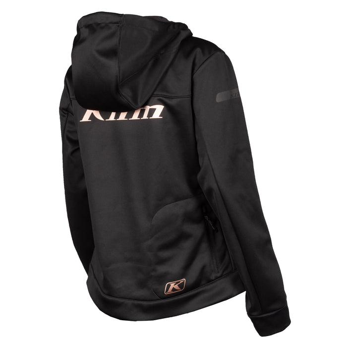 Klim Evolution Hoodie in Black - Rose Gold