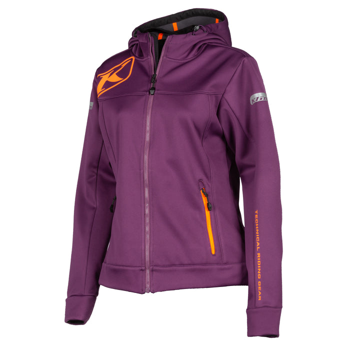 Klim Evolution Hoodie in Deep Purple - Strike Orange