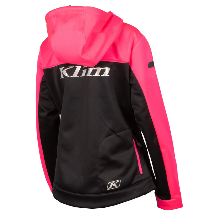 Klim Evolution Hoodie in Knockout Pink - Gold