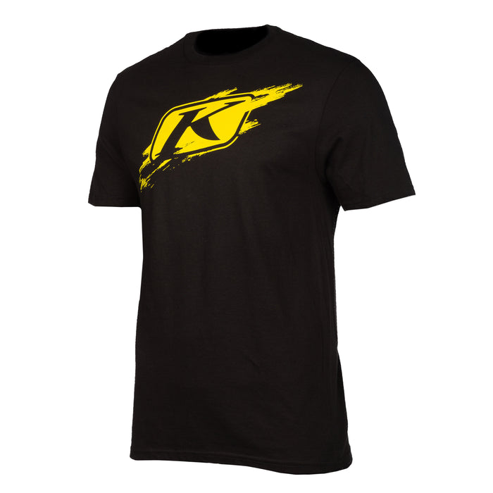 Klim Scuffed Short Sleeve Tee in Black - Klim Yellow