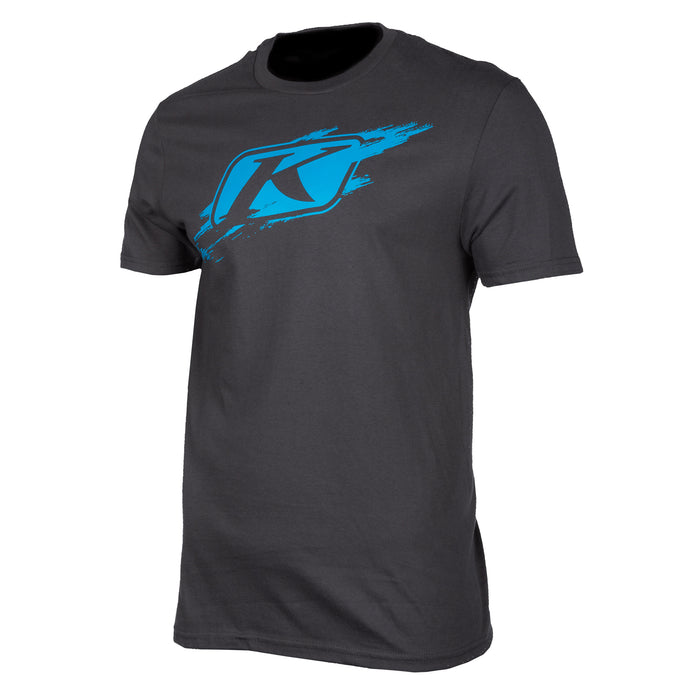 Klim Scuffed Short Sleeve Tee in Gray - Vivid Blue