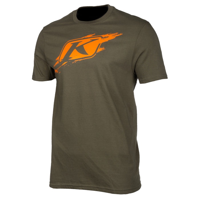 Klim Scuffed Short Sleeve Tee in Olive - Strike Orange