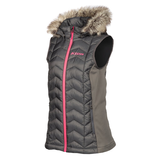 KLIM Arise Vests in Asphalt - Knockout Pink