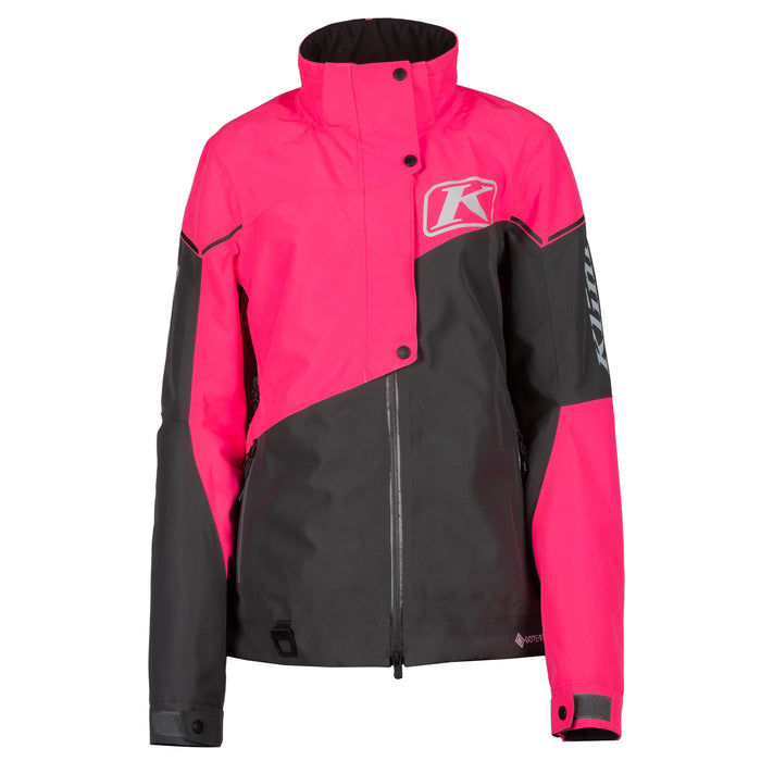 Klim Alpine Jacket in Knockout Pink - Asphalt