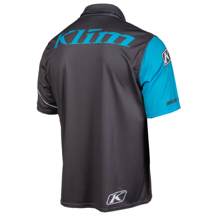 Klim Race Spec Polo in Asphalt - Vivid Blue