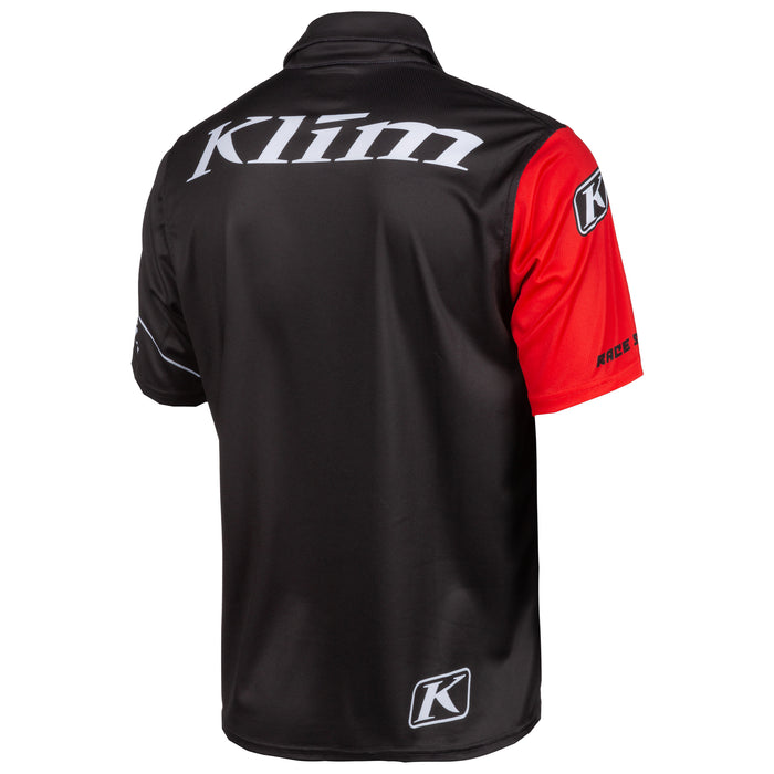 Klim Race Spec Polo in Black - High Risk Red
