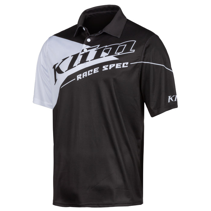 Klim Race Spec Polo in Black - White