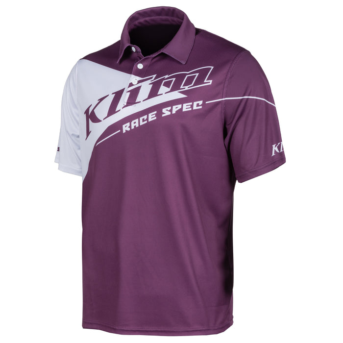Klim Race Spec Polo in Deep Purple - White
