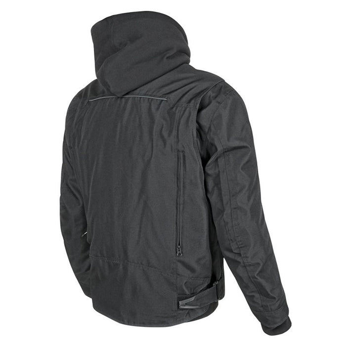 JOE ROCKET Men's Great White North Textile Jacket in Black - Back