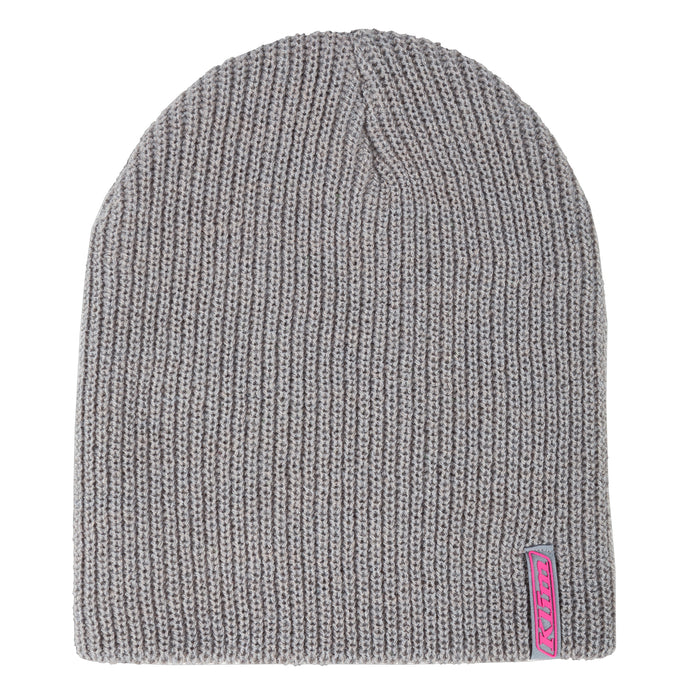 Klim Core Beanie in Light Gray - Knockout Pink