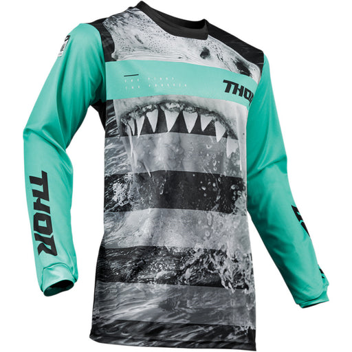 Thor Youth Pulse Savage Jerseys in Jaws Mint/Black