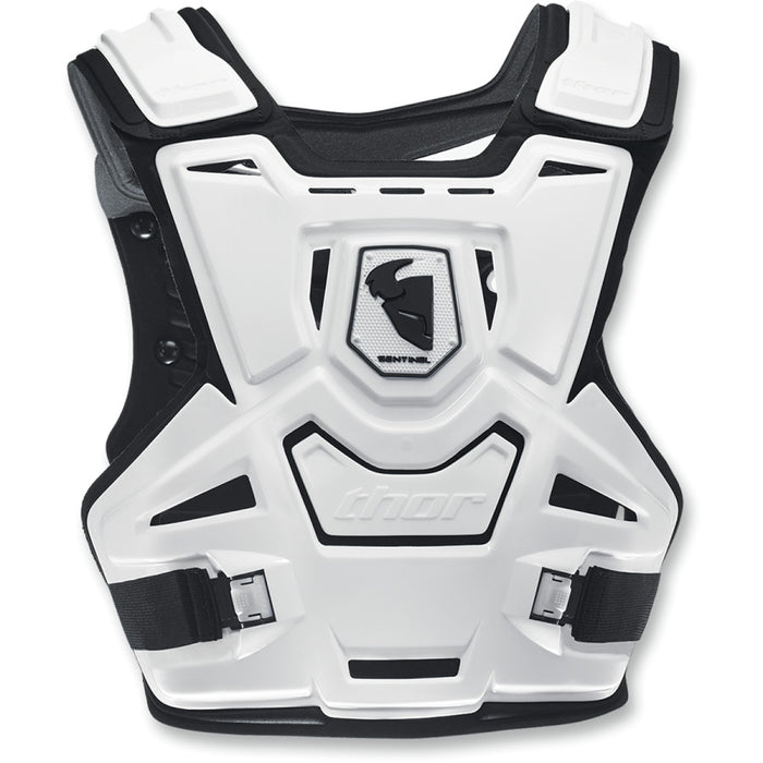 Thor Sentinel CE Roost Guard Deflector in White/Black - Back