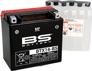 BS Battery MF Range BTX14-BS
