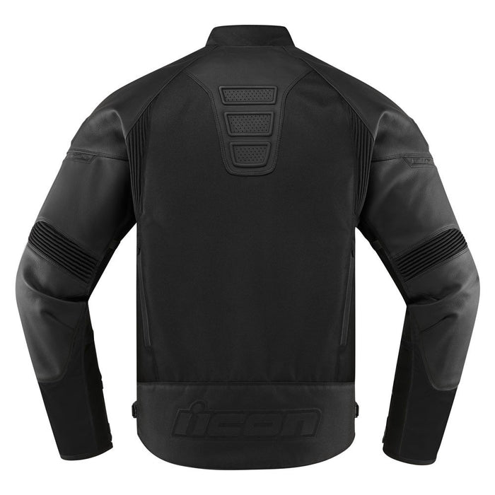 Icon Contra 2 Leather Jacket in Stealth - Back