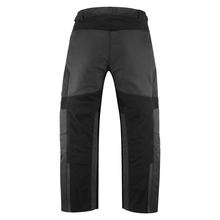 Icon Contra2 Leather Overpants in Black - Back