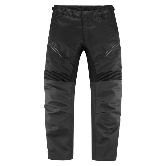Icon Contra2 Leather Overpants in Black - Front