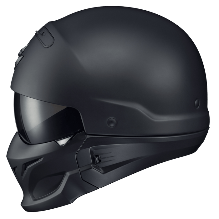 Scorpion Covert Solid Helmets Dot in Matte Black