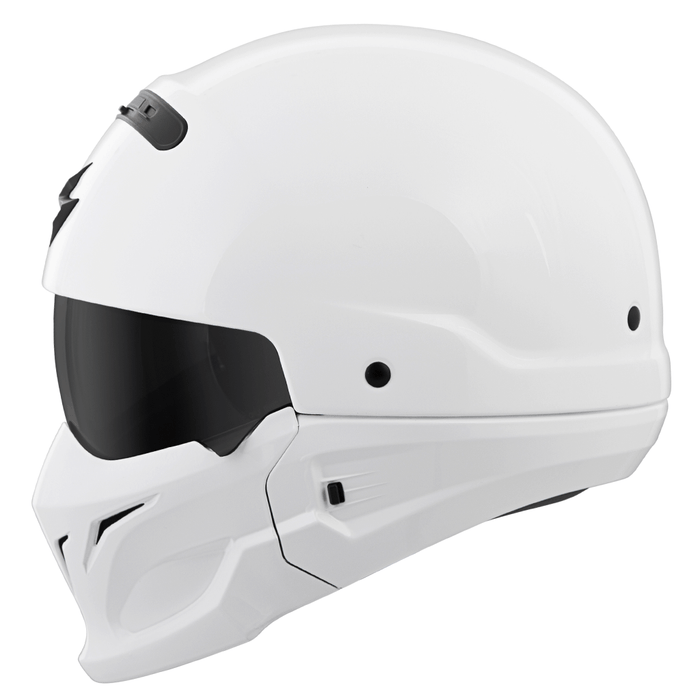 Scorpion Covert Solid Helmets Dot in White