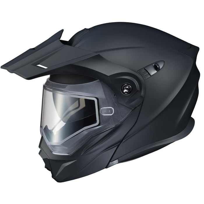 Scorpion EXO-AT950 Solid Snow Helmet in Matte Black (Double Shield)