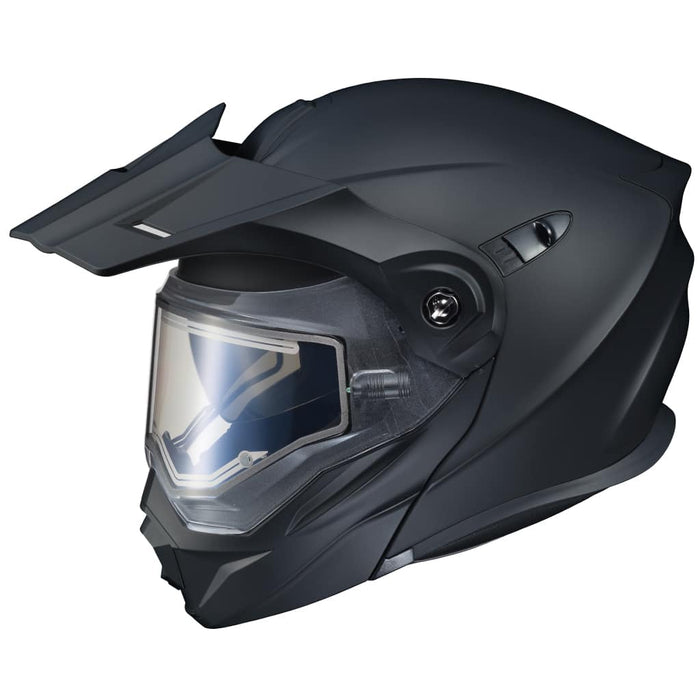 Scorpion EXO-AT950 Solid Snow Helmet in Matte Black (Electric Shield)