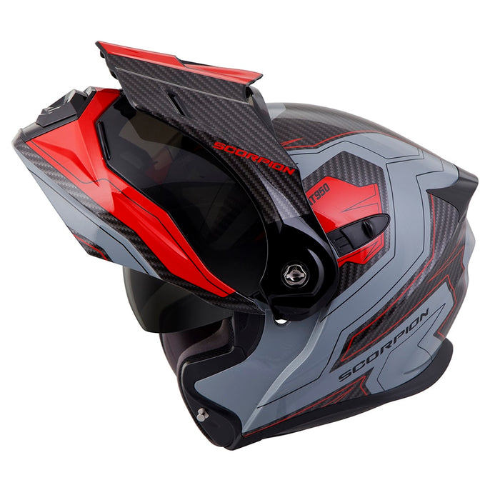 Scorpion EXO-AT950 Tucson Helmets in Grey/Red