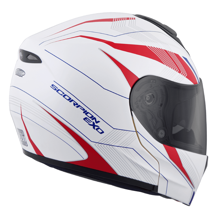 Scorpion EXO-GT3000 Sync Helmets - Dot in Red/White/Blue