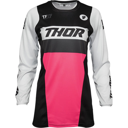 Thor Pulse Racer Women's Jersey in Black/Pink