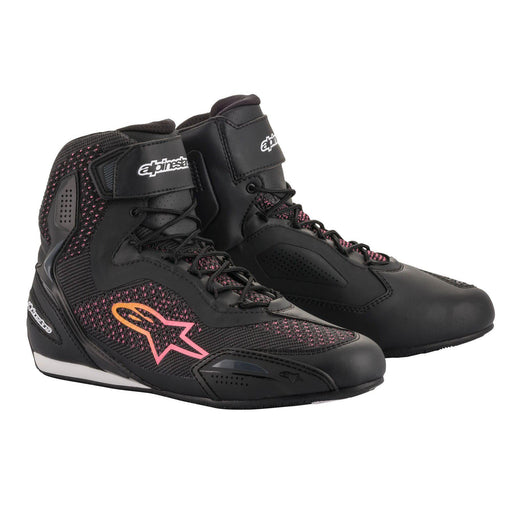 Alpinestars Women's Stella Faster 3 Riding Shoes in Black/Yellow/Pink