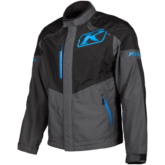 KLIM Traverse Jacket in Black - Kinetik Blue