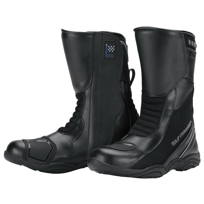 Tourmaster Solution Waterproof Air Boots in Black