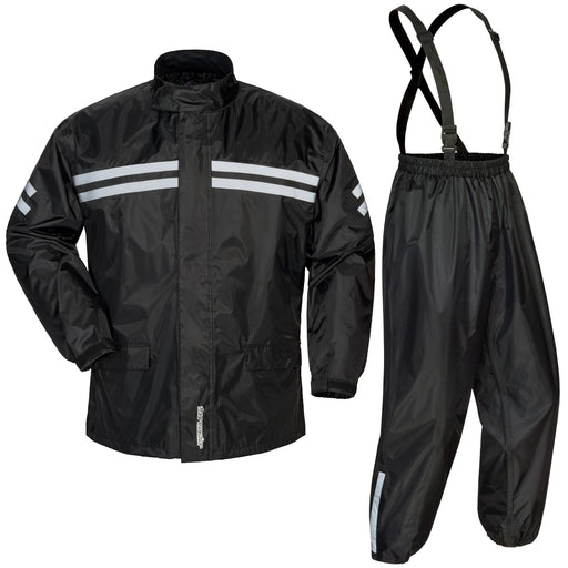 TOURMASTER Shield 2 Piece Rainsuits in Black