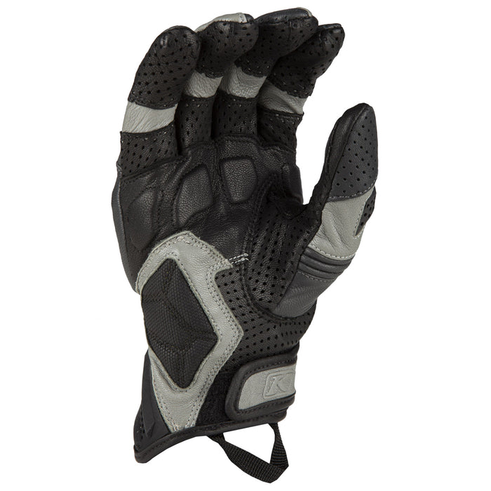 KLIM Badlands Aero Pro Short Gloves in Gray - Kinetik Blue