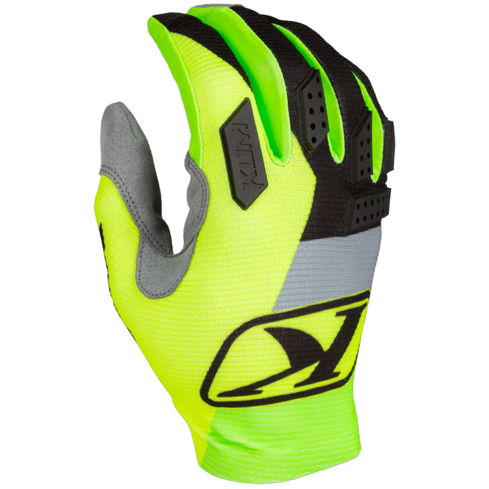 KLIM XC Lite Gloves in Electrik Lemonade