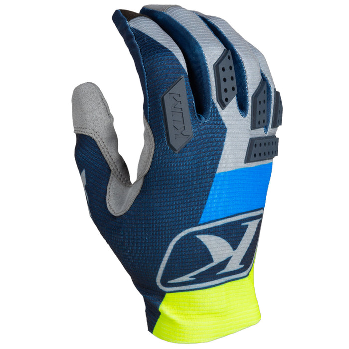 KLIM XC Lite Gloves in Kinetik Blue