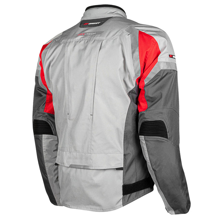 JOE ROCKET Men's Meteor Jacket in Silver/Red/Gray - Back