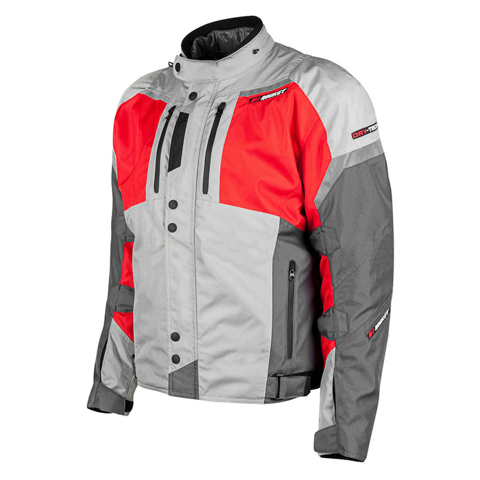 JOE ROCKET Men's Meteor Jacket in Silver/Red/Gray