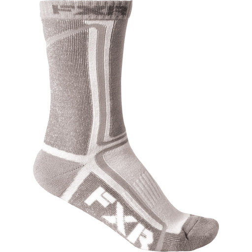 FXR Mission ½ Athletic Socks (2 pack) White/Grey