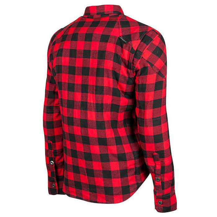 Mission Armoured Moto Shirt in Red - Back