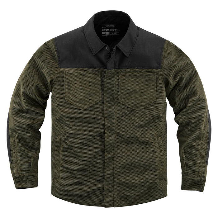 Icon Upstate Riding Shirt in Olive - Front