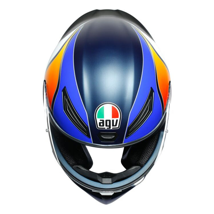 AGV K1 Power Helmet in Matte Dark Blue/Orange/White