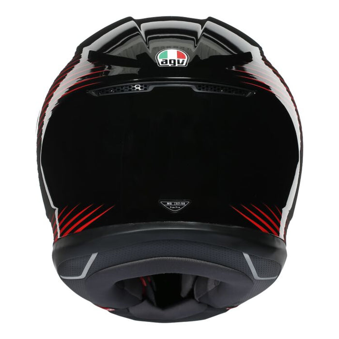 AGV K6 Rush Helmet in Black/Red