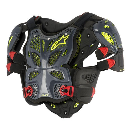 Alpinestars A-10 Roost Deflector Body Armour & Protection Alpinestars Black/Fluo Yellow XS/S