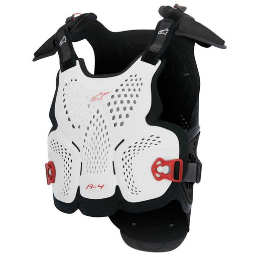 Alpinestars A-4 Chest Protector Body Armour & Protection Alpinestars White/Red XS/S